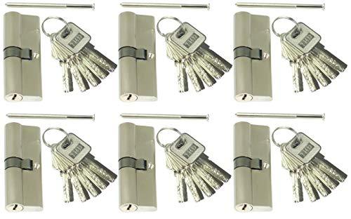 6 Profilzylinder 60 mm 30/30 Türschloss Zylinder 30 Schlüssel gleichschließend