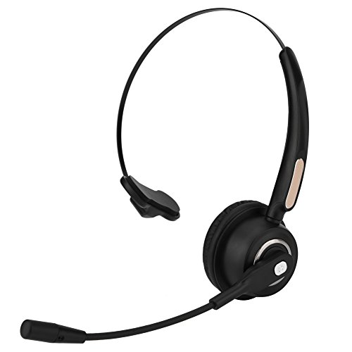 Wendry Bluetooth-headset, draadloze bluetooth-oorschelp, Callcenter Bluetooth headset 12 uur geluidsgeluid afbreken van Bluetooth-callcenter-hoofdtelefoons