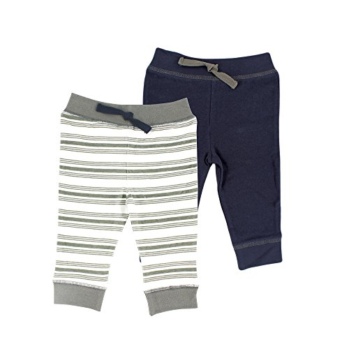 Yoga Sprout Baby 2 Pack Pants, Charcoal/Navy, 12-18 Months
