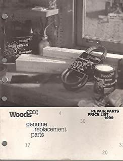1999 WOODS FARM EQUIPMENT REPLACEMENT PARTS PRICE LIST MANUAL