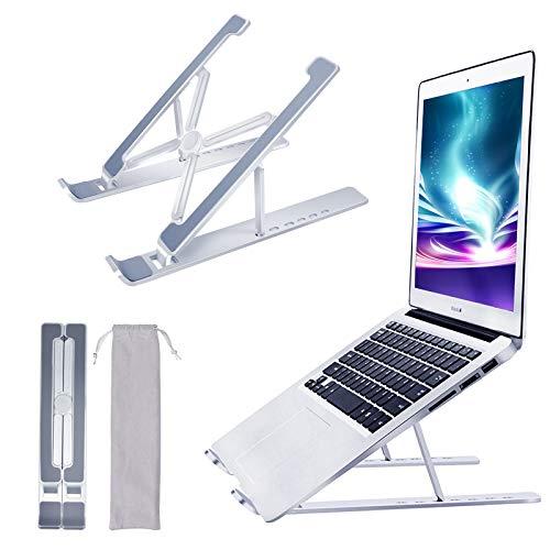 laptopständer, Laptop Ständer, Notebook ständer mit 7 Stufen einstellbare Aluminiumlegierung Kompatibel mit MacBook Air Pro, HP, Lenovo Mehr 10-15,6