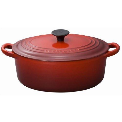 ル・クルーゼ ココット・オーバル25cm チェリーレッド ホーム&キッチン 鍋・フライパン 鍋 [並行輸入品]