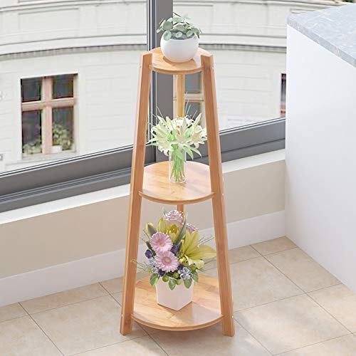 GWFVA Afwerkingspot voor bloempotten. Bloemkom Bamboe Decoratie Meerdere Lagen Vloerstandaard Woonkamer Balkon Bloempot Houder Bloemhouder Plant (Maat: B)