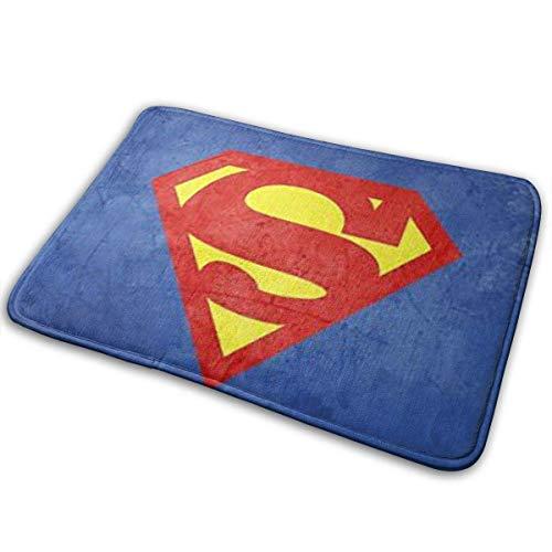 """GOU39-WCT Bienvenido Tapetes para Puertas Superman Tapetes para Interiores y Exteriores Alfombras de Entrada Tapetes Antideslizantes de Goma 15.8""""X23.6 Pulgadas"""