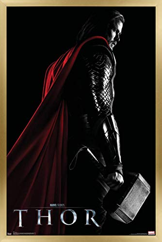 Trends International Marvel Cinematic Universe - Thor - One Sheet Wall Poster, 14.725' x 22.375', Gold Framed Version