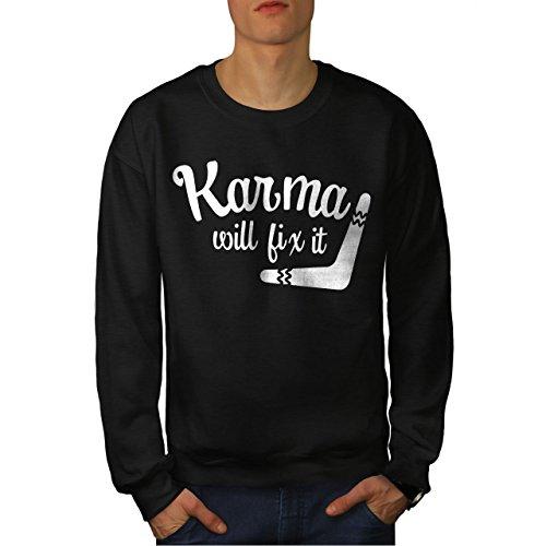 wellcoda Karma Wille Fix Es Männer Sweatshirt Lustig Lässiger Pullover