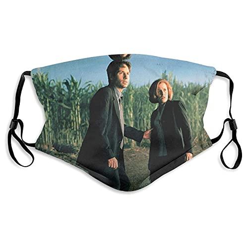 The X-Files - Mascarillas faciales lavables reutilizables, de algodón, antipolvo, protección bucal con bucles ajustables para las orejas para adultos y hombres