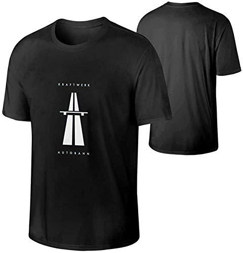 Kraftwerk Men Short Sleeve CrewneckT-Shirt,Soft and Comfortable Black