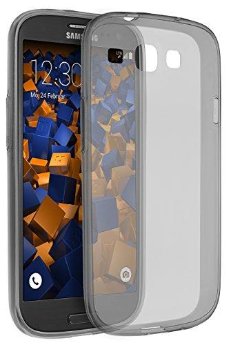 mumbi Hülle kompatibel mit Samsung Galaxy S3 / S3 Neo Handy Hülle Handyhülle dünn, transparent schwarz