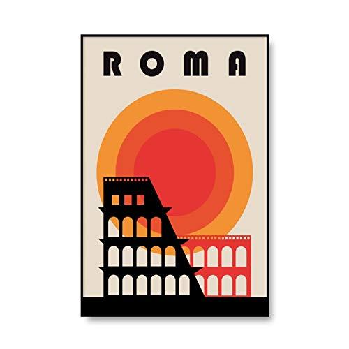 Póster Artístico de la Bauhaus, lienzo impreso con patrón geométrico abstracto, lienzo decorativo sin marco para el hogar, pintura A2 50x70cm