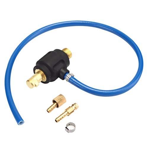 Preisvergleich Produktbild SNOWINSPRING Tig Stromschwei Gas Adapter Stecker 35-50 Stecker M16 M10 Mit 9mm Schnell Anschluss Für Wp 17 18 26 Schweibrenner