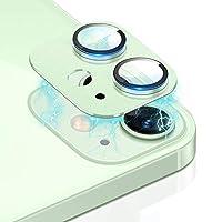 iPhone 12 カメラレンズ カメラ保護用フィルム メタルリングカバー レンズ プロテクター アイフォン12 アルミ製保護レンズカバー[iPhone 12(グリーン)]
