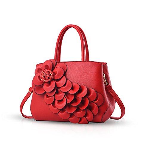 NICOLE & DORIS New Schultertasche Umhängetasche Flower Pattern Handtasche für Damen
