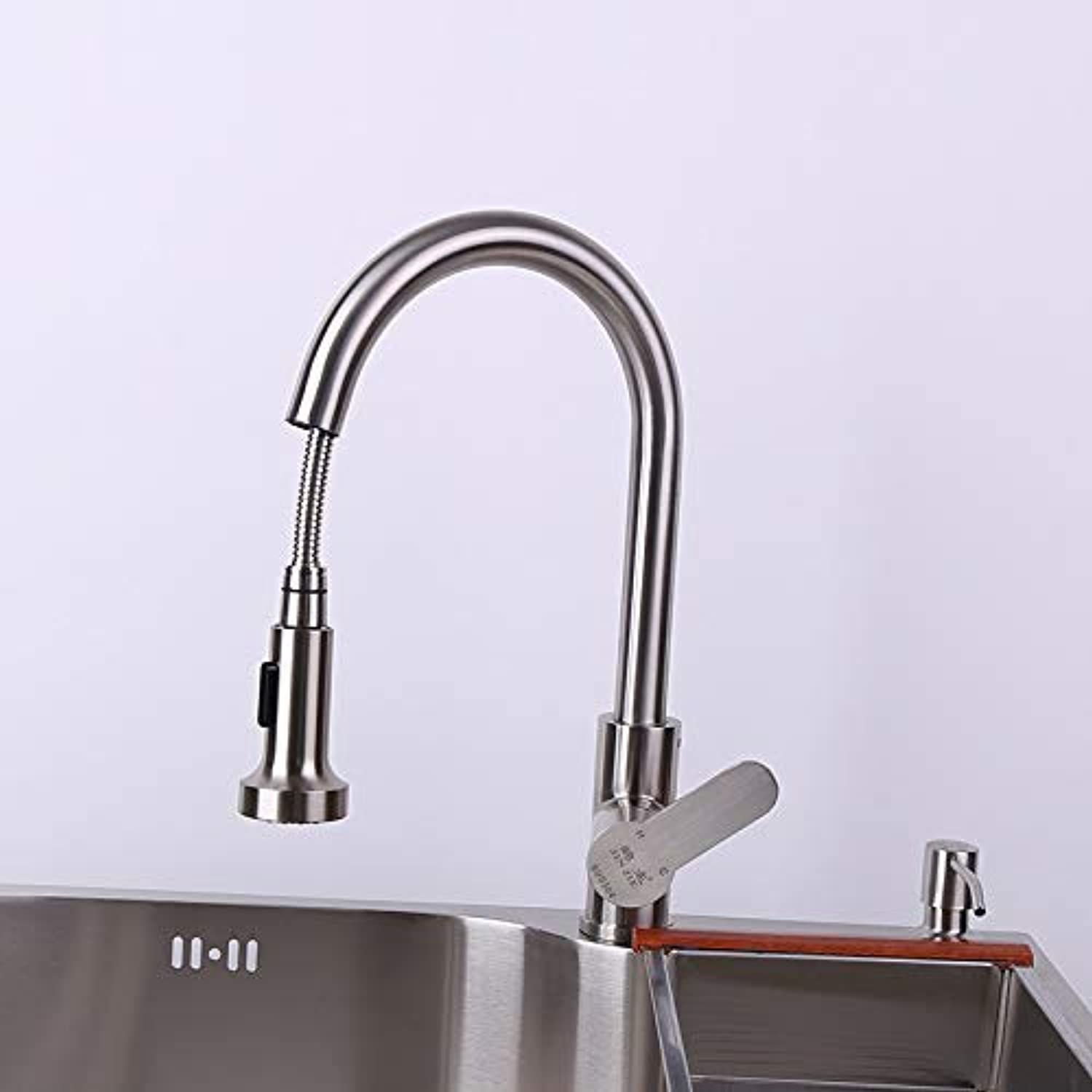 Oudan Stainless Steel Pull-Pull redary Faucet Kitchen Faucet Mixer (color   -, Size   -)