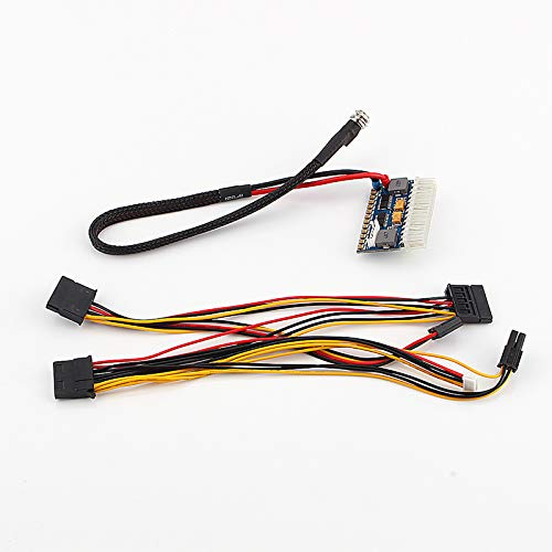Changor Interruptor de fuente de alimentación, plástico/oro hecho de alta eficiencia placa base de seguridad coche auto 24pin interruptor PSU