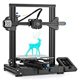 Creality Ender 3 V2 3D Printer with Silent Motherboard, Meanwell Power Supply, Carborundum Glass Platform and Resume Printing 220x220x250mm