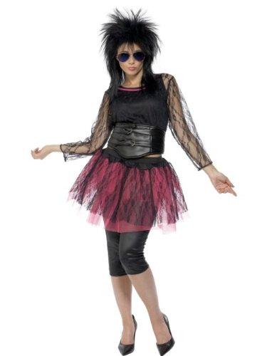 Smiffy's - Disfraz de aos 80s retro para mujer, talla UK 16-18 (31018L)
