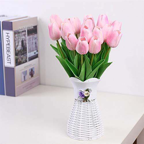 SOQHD Künstliche Blumen, gefälschte Blumen Blumenstrauß Tulip Real Touch Braut Hochzeit Blumenstrauß for Haus-Garten-Party Blumendekor (Color : 10 Mixed)