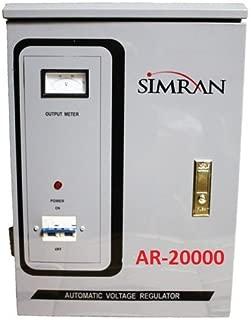 Simran Power Converter Regulator Stabilizer with 110 Volt - 220/240 Volt Built-in Voltage Transformer, 20,000W (AR-20000)