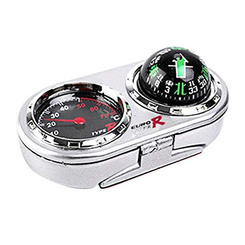 ZSooner 2 in 1 Führungsball Auto Fahrzeuge Auto Navigation Kompass Thermometer