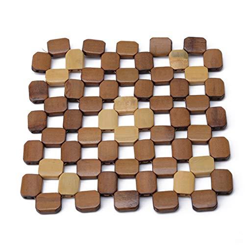 LIGHTBLUE Einfache quadratische Schreibtisch-Tischsets, Hohle Tischsets, Isolierauflagen gegen heiße Untersetzer, Tassenmatten, Küchenaccessoires, groß