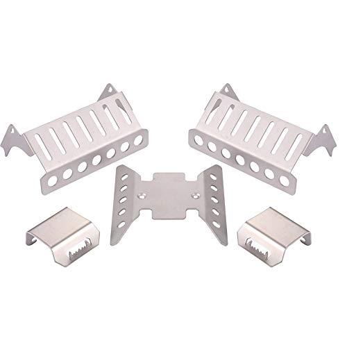 Heinside 5 piezas de placa de eje para niños de aprendizaje temprano armadura de protección delantera media trasera suministros para Axial SCX10 RC Car Accesorios más fuertes