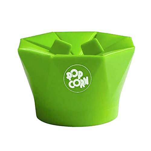 Save %23 Now! Silicone Popcorn Popper Maker Microwave Popcorn Machine For Kitchen 2 Color - Green