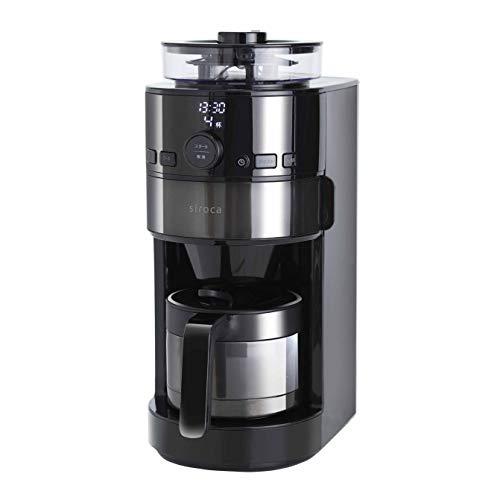 シロカ コーン式全自動コーヒーメーカー [アイスコーヒー対応/予約タイマー/自動計量] SC-C121
