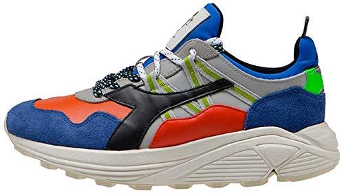 Diadora Heritage Unisex Rave Leather Pop Sneaker Farbe: Blau/Multicolor (60032); Größe: EUR 43   US 9.5   UK 9
