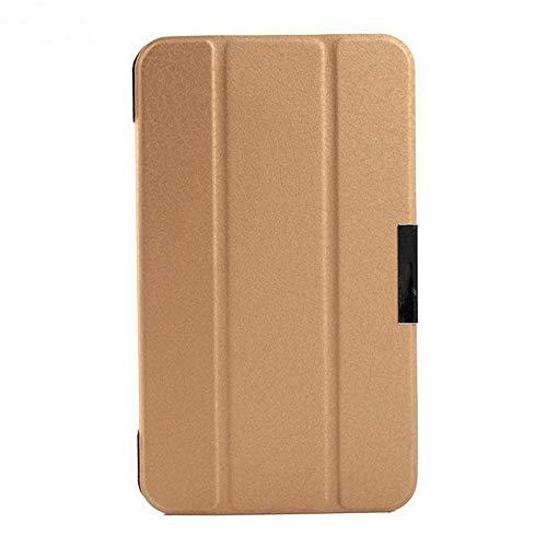 Schutzhülle für Asus FonePad 7 FE170CG K012 ME70C K01A Memo Pad 7 ME70CX K017 7 Zoll Tablet Smart Cover Ultra Slim Folio Stand Sleep/Wake Up Lederhülle (3 Gold)