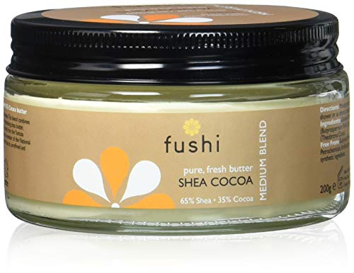 Fushi Shea Cocoa Butter Moisturiser Body Butter Cream | Organic Blend Of Hydrating And Nourishing Butters | Dry Skin Relief | Medium Texture, 200g