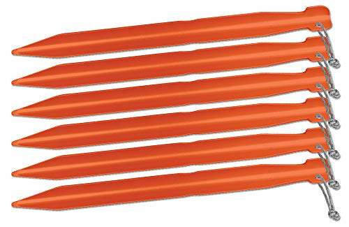 Big Agnes Inc Unisex's Big Agnes 7-Inch Tent Stakes 6-Pieces Pack, Gold, (6 Pack)