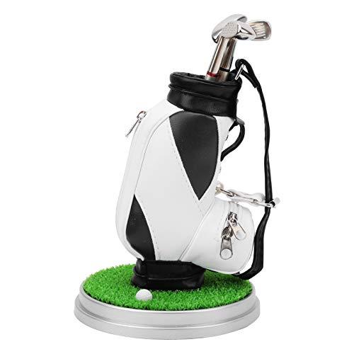 KUIDAMOS Mini portabolígrafos para Bolsa de Golf fácil de almacenar, como Regalo de Recuerdo(Black and White)