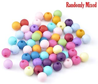 "200 Pack Acrylic,""Bubblegum"" Spacer Beads 8mm with 1.5mm Hole (Pastel Opaque Balls)"