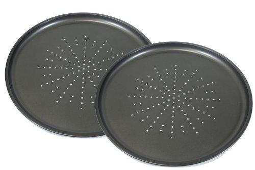 Prochef Lot de 2 moules à pizza anti-adhésifs Passe au lave-vaisselle 30,5 cm de diamètre