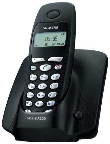 Siemens Gigaset A200 mattschwarz schnurlos Telefon