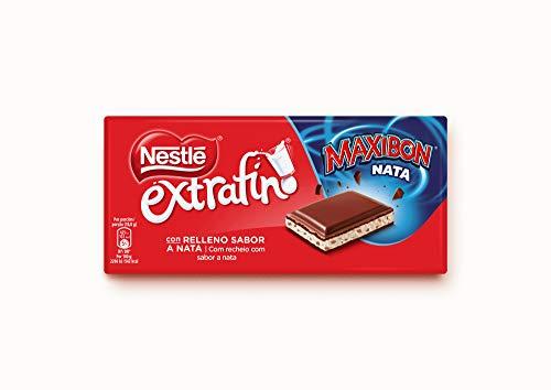 Nestlé ExtrafinoMaxibon Nata Tableta de Chocolate 170 g - Pack de 16 tabletas