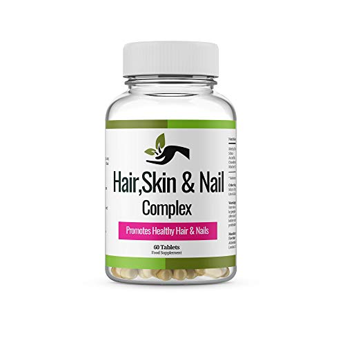 Hair, Skin & Nail Complex.-1400mg Made in UK. Extra Strength, Quality,Supplement for Women and Men. Hair Vitamins Nail Care and Skin Supplement.