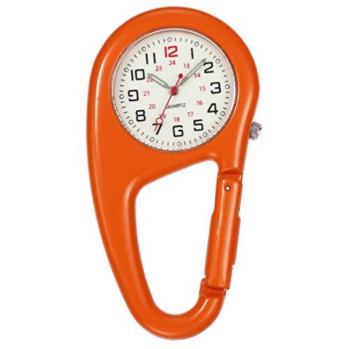 NICERIO Karabiner Taschenuhr - Aufsteckbare Karabineruhr Quarzwerk Outdoor Taschenuhr Nachtlicht Aluminium Backpacker Clip Uhr