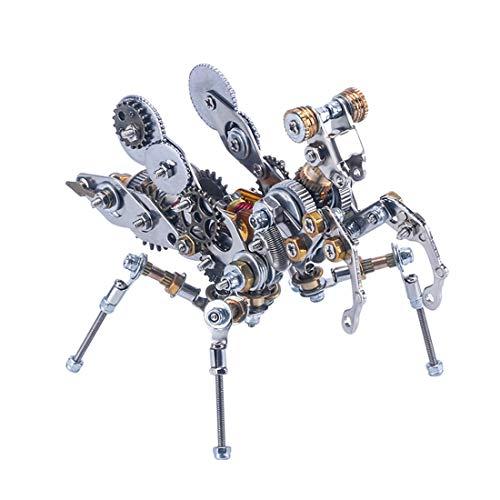 Teakpeak Metall 3D Modell, DIY Metal Model Kit Metall 3D Puzzle Laserschnitt Metall Metallbausatz 3D Konstruktionsspielzeug Metall - Mechanisches Gebetsinsekt