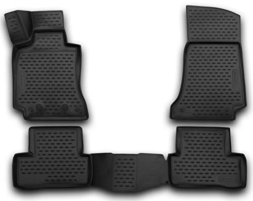 Element EXP.NLC.3D.34.32.210k Alfombrillas de Goma Antideslizantes Mercedes Benz Clase C W205, sedán – año: 14 – 20, Negro