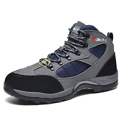 Zapatos de seguridad Zapatos de punta mujeres de los hombres de tierra de acero, Deportes / ocio / trabajo, MD + suela de goma, ligero y transpirable Industriales y Construcción Entrenadores botas de