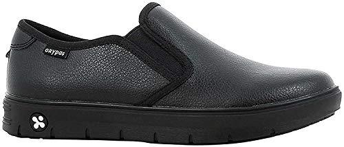 Oxypas Neu Fashion Berufsschuh komfortabeler Sneaker Nadine aus Leder antistatisch (ESD) in vielen Farben (41, schwarz)