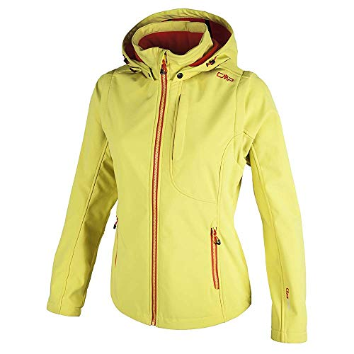 CMP – F.LLI Campagnolo Damen Softshelljacke mit abnehmbaren Ärmeln Jacket, Apple-Bitter, D38