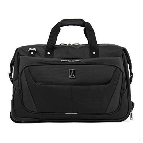 Travelpro Maxlite 5 Carry-On Rolling Duffel Bag, Black, 20-Inch