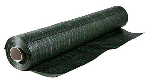 ITALFROM Toile de paillage vert quadrillée, tissu polypropylène anti-déchirure, 100 x 0,50 m
