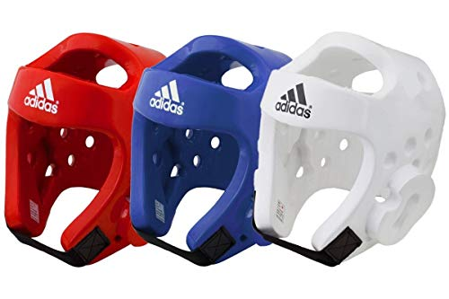 adidas WT Taekwondo Martial Arts Dipped Foam Head Guard Protector Kopfschutz, weiß, m