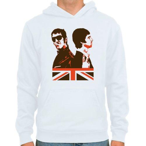 Pixda Hoodie Liam & Noel Gallagher ::: Farbauswahl: weiß oder SkyBlue ::: Größen: S-XXL