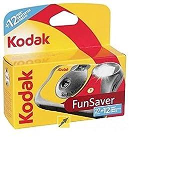 kodak 3920949 Fun Saver Single Use Camera with Flash  Yellow/Red