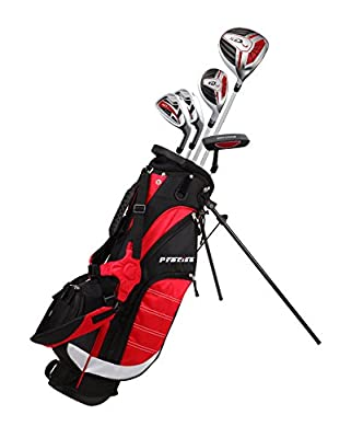 Precise XD-J Junior Complete Golf Club Set for Children Kids - 3 Age Groups Boys & Girls - Right Hand & Left Hand! (Red Ages 6-8, Right Hand)